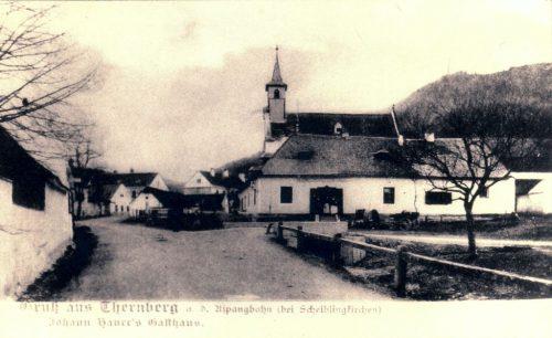 Unser Haus auf einer Postkarte von damals