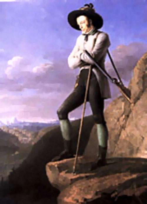 Erzherzog Johann in seiner typischen Pose