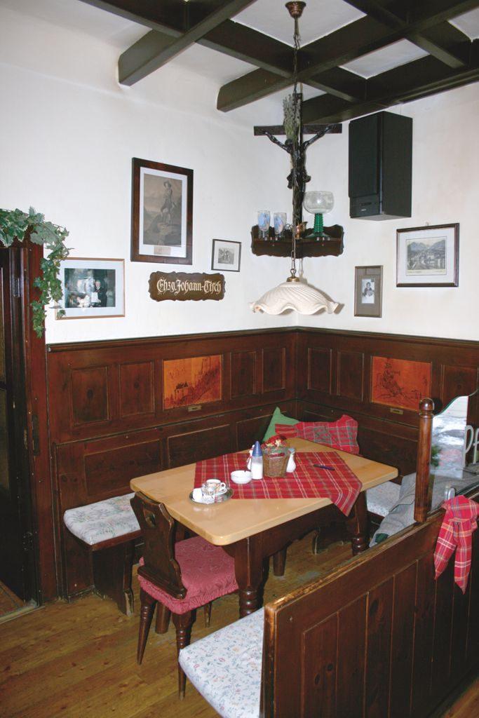 Erzherzog Johanns Stammplatz in der Gaststube